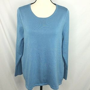 Chicos 2 Button Cuff Sweater Thin Knit Long Sleeve